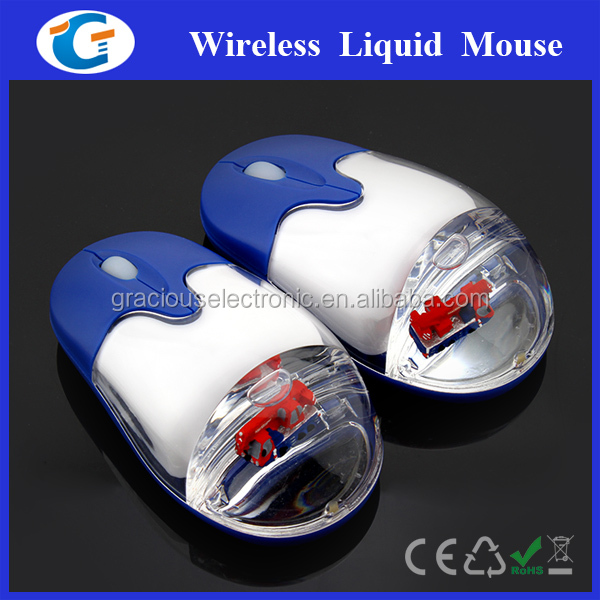 2.4G wireless liquid filled mouse drivers USB optical mouse