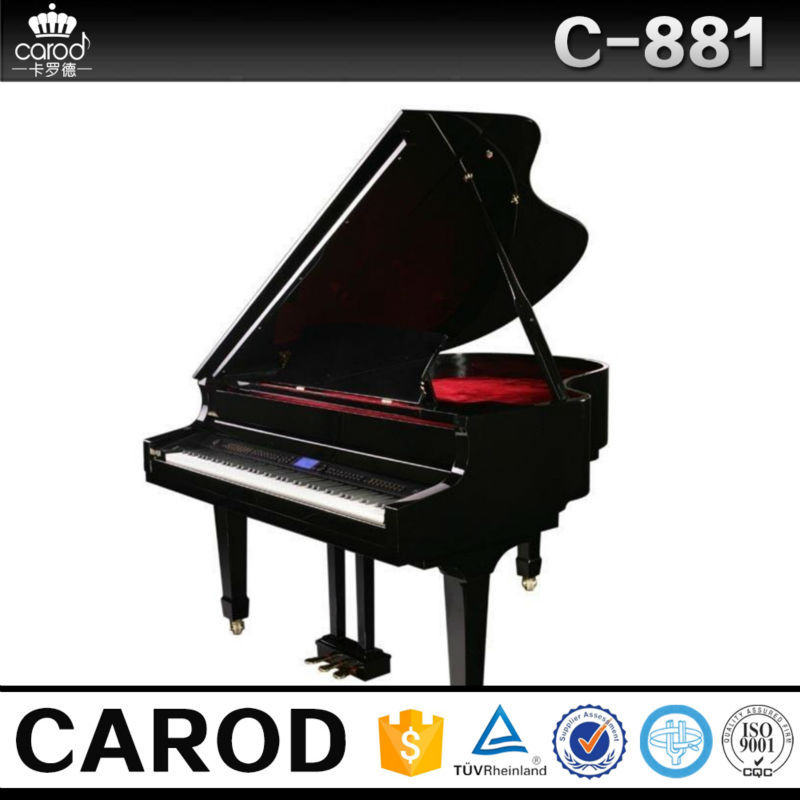 popular black polished digital grand piano price for sale