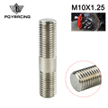 PQY RACING - 10mm M10x1.25 Exhaust Stud 303 Stainless Steel Double End Threaded Screw PQY-DEB01