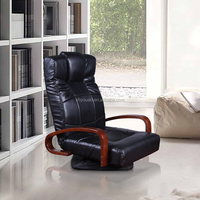 household leisure floor rotating floor recliner leather club fabric chair backrest folding lazy chair B103