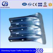 steel corrugated beam highway guardrail fishtail end