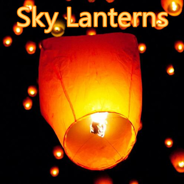 Chinese Flying Sky Floating Lanterns, Kongming Wishing Paper Lanterns Wedding