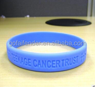 150mm*100mm*3mm blue rubber bracelet