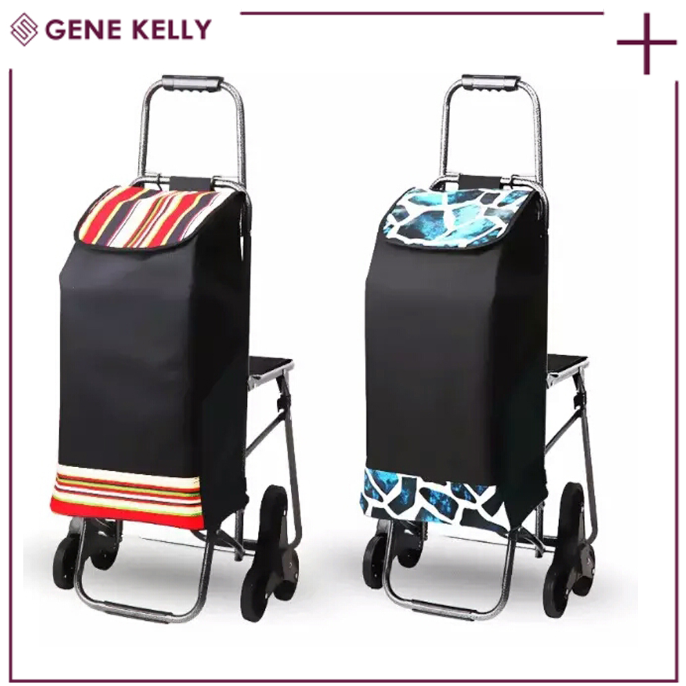 GEKE Quick Delivery Time Convertible,Airport Foldable Travel House Luggage Trolley,Shopping Cart with Three Wheel