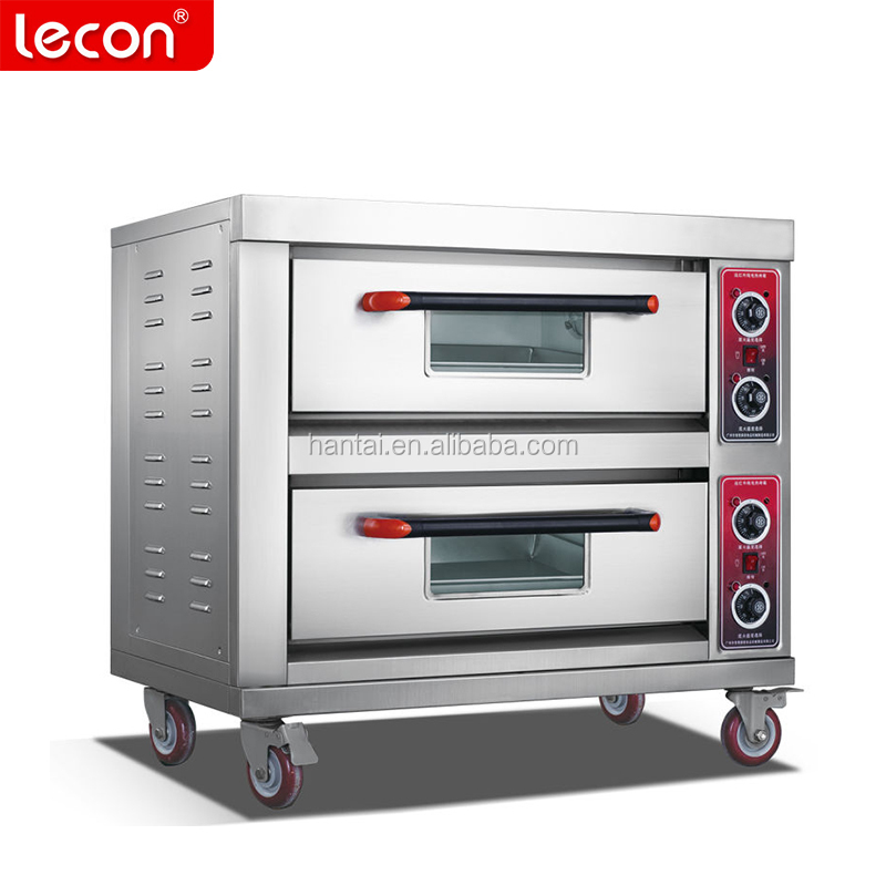 Industrial 2 Deck 2 Trays Bread Baking Electric Oven For Sale