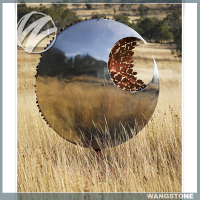 Mirror Polished Art Sculpture Metal Garden Sign