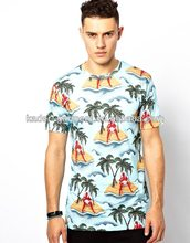 T-shirt with desert island devil all-over print for men