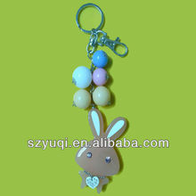 Rhinestone acrylic beaded animal keychain patterns