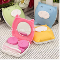 High quality portable travel piggy contact lens case/wholesale color contact lens/custom cute contact lens cases