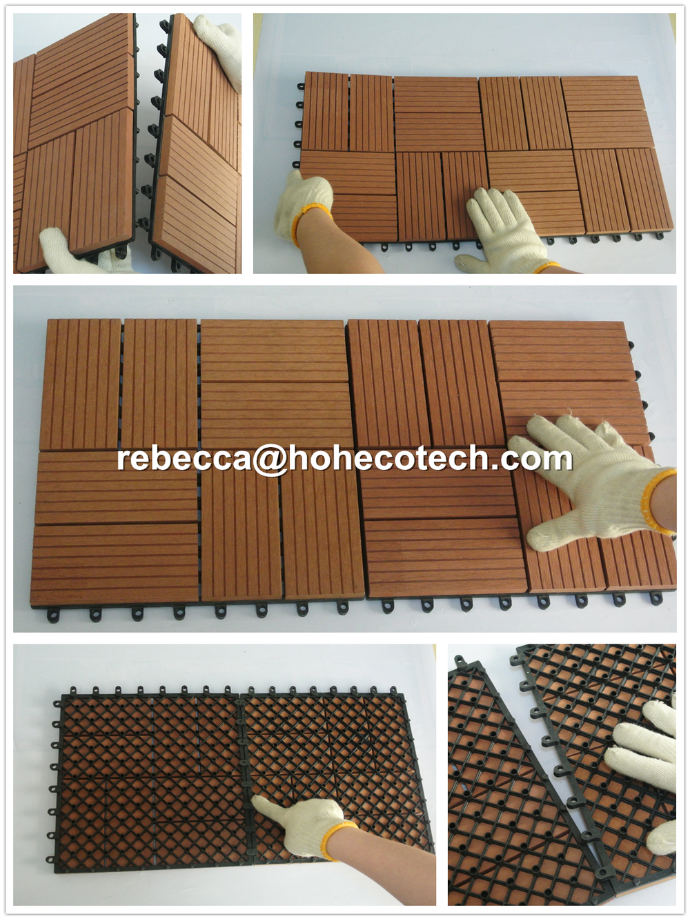 WPC Wooden non-slip kitchen floor tile