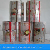 Manufacturer customized printing laminated plastic Food packing roll film