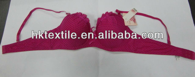 2013 fancy dots print lady underwear bra shenzhen