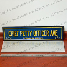 Address Number Road Street Nameplate Decoration Metal Door Plate Sign Tin