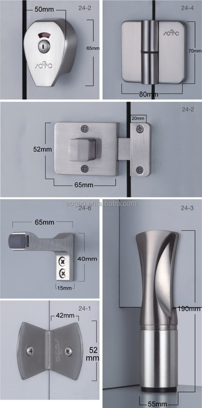 Aogao 24 series toilet cubicle partition toilet accessories