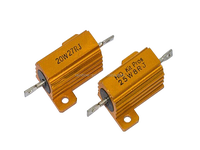 High quality gold aluminum housed resistor 500R