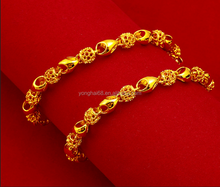 Hot Selling Fashion Jewelry Design 24K Gold Color Plated Bracelet Dubai Gold Jewelry