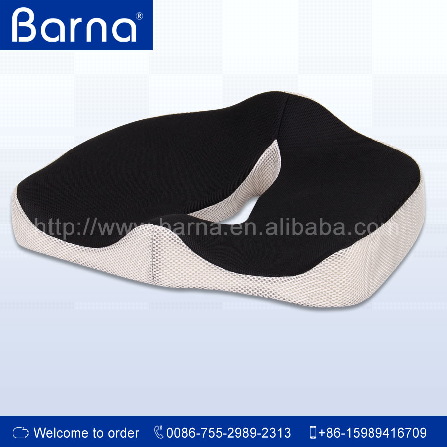 Wholesale Cheap Breathable Car Seat Cushion, Memory Foam Seat Cushion with non-slip bottom