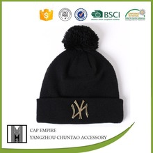 Wool arcylic cotton knitting winter cap for ladies