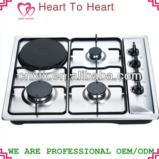 Built-in With Electric plate SST Panel Gas Stove XLX-624SE