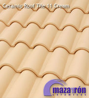 Mixed Ceramic Roof Tile 11 Cream