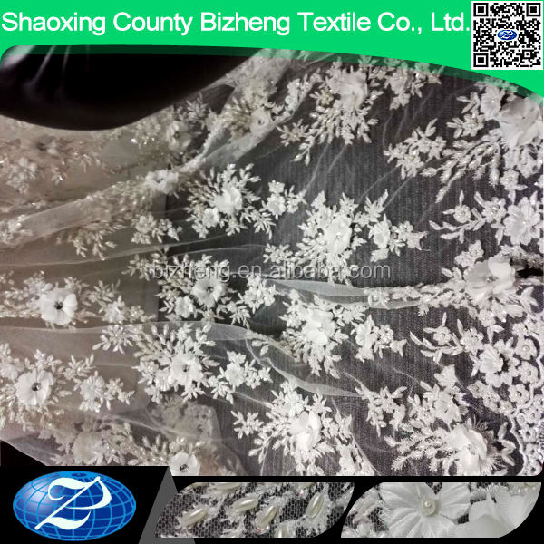 Wholesale womens clothing lace sequin fancy embroidery hand beaded fabric dresses women fabric