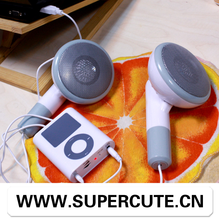 Novelty design portable China Supplier headphone style trolley speaker