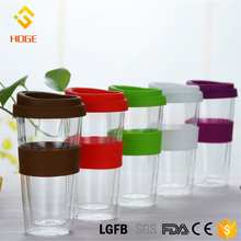 Fashionable Bodum Glass Coffee Cup Double Wall Glass Travel Mug Tea Cup Fast Water Flow with lid