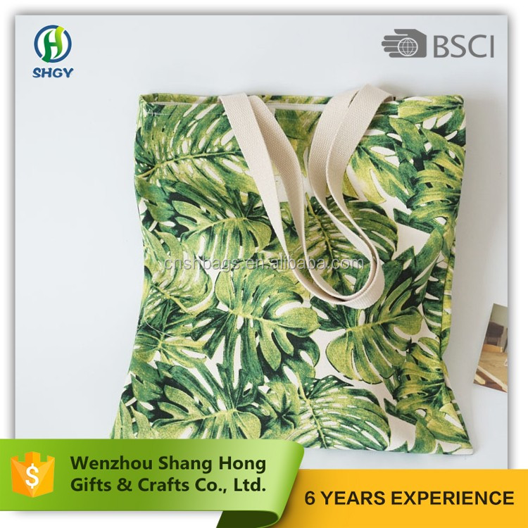 bsci factory 100% cotton canvas tote bags/sublimation tote bags