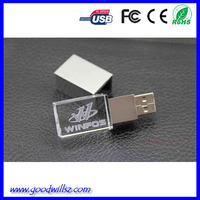 2015 Hot Product! Led Light Customized Cheap Crystal USB Stick, Paypal Acceptable