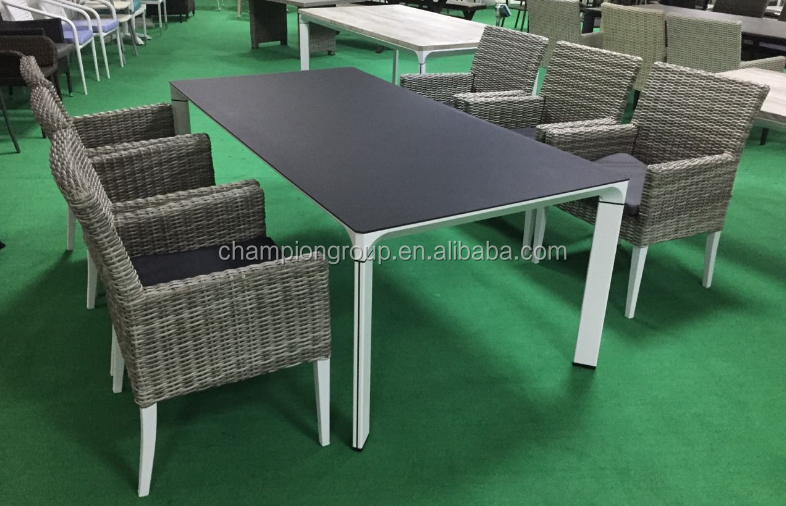 cheap garden furniture spray stone dining table