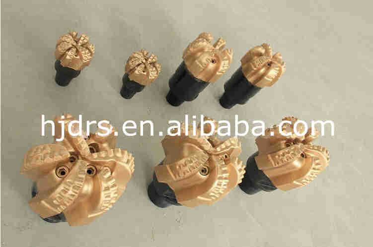 API 16mm cutters high drilling speed 5 blades non-core PDC drill bit