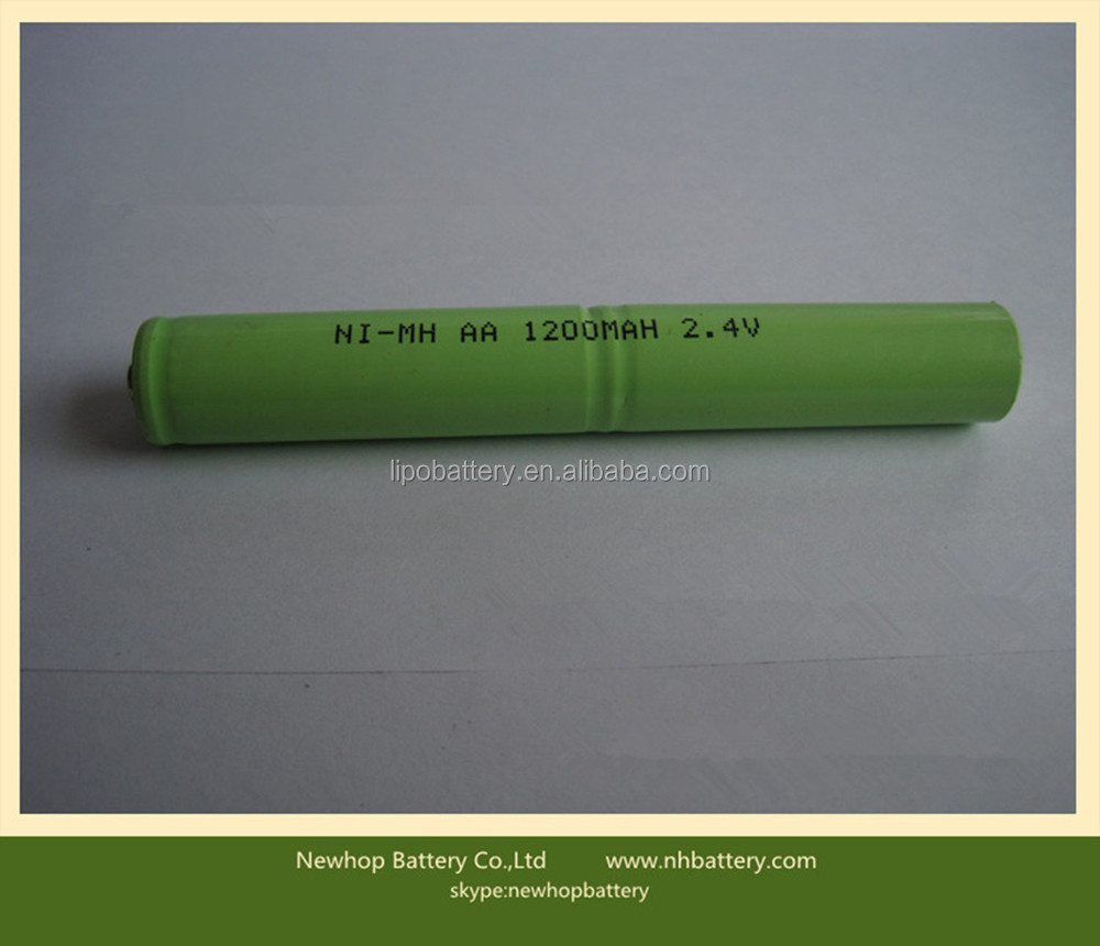 2015 hot sale 2.4v 1200mah nimh battery pack for coldless phone