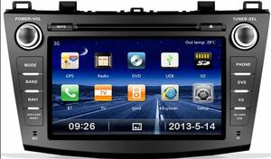 For NEW Mazda 3 car radio dvd gps player with FM/AM/DVD/IPOD/TV
