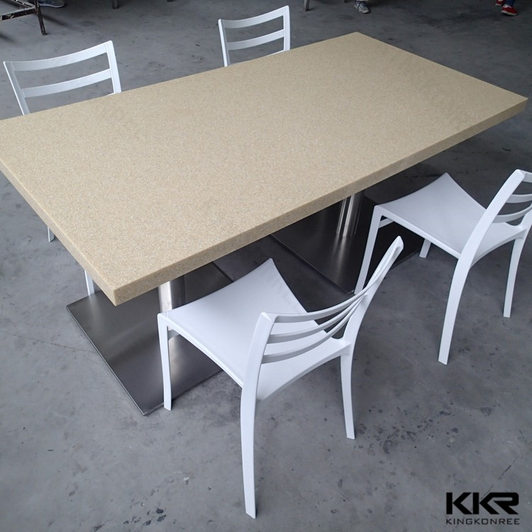 artificial solid surface custom design 4 seater dining tables