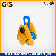 heavy duty 0.5~5 ton electric chain hoist wire cable trolley/crane trolley/geared trolley