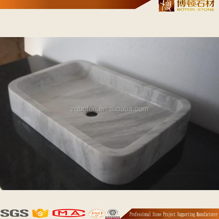 Small Size Natural Stone White Marble Toilet Hand Wash Basin