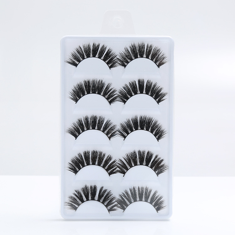 <strong>D007</strong> Make Your Own Brand 5 Pairs Professional 3D False Mink Eyelashes Private Label For Women