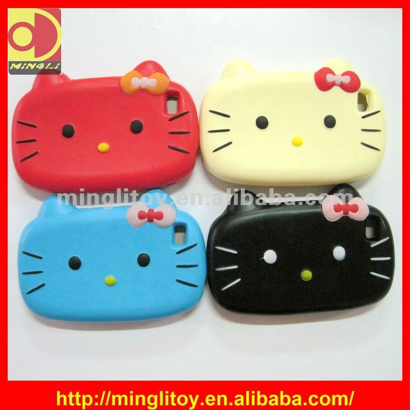 New Designable Cat Shape Custom PU Phone Holder