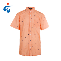 Good quality new woven cotton poplin basic shirt printing custom