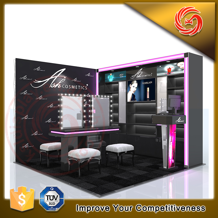 Modern design shopping mall cosmetic makeup shop kiosk