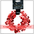 23 Feet Red-Star Shaped TInsel Wire Garland Christmas Decoration