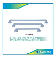 "SC6095~9 Plastic Grab Bar,ABS flanges and PVC tubing,12"" 16"" 18"" 24"" 32"" 30/45/61cm"