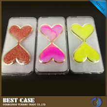 yexiang bestcase electroplate tpu back cover light up case for iphone 5c liquid case