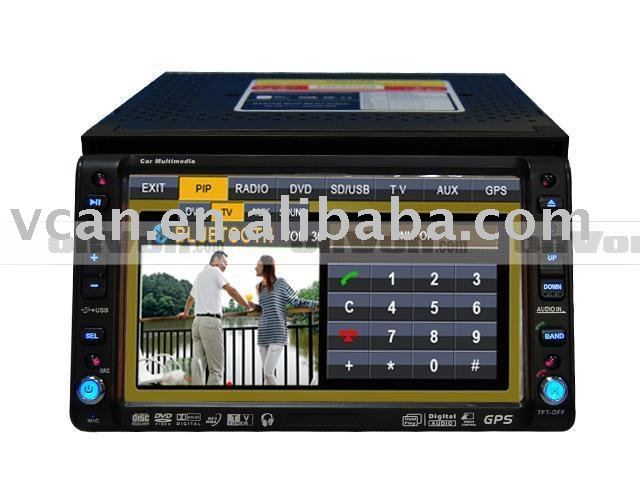 yahoo cn 6.2 inch digital panel car DVD with GPS Bluetooth TV PIP FM Touc