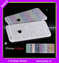 JESOY Fashionable Mobiles Cases Full Body Glitter Bling Protector Case Sticker For Samsung Galaxy S3 S4 mini S5 S6 Case