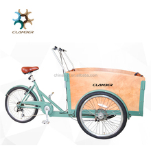 Cheap 3 wheel cargo bike with CE certification/Euro style cargo tricycle for adults and child UB9034