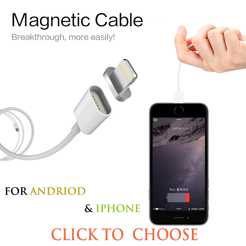 Magnetic Micro USB <strong>Cable</strong> Adapter Data Sync Charging <strong>Cable</strong> For iphone 5S SE 6S Plus 7/7Plus ipad Air Mini Magnet Charger