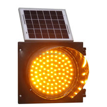 High Quality Solar Power traffic Yellow Flashing Light /yellow Bright Light Flashlight/ Led Focus Light