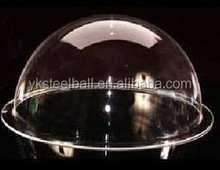 Yuanke clear acrylic half ball, transparent plexiglass semiphere, size can be customized