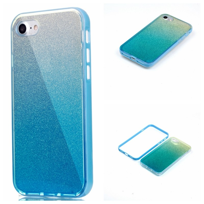 Free Sample Mirror Cases Plastic Cover Soft TPU Edge Glitter Case for iPhone5 6 6 Plus 7 7 plus for Samsung s7